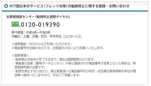 NTT勧誘停止番号